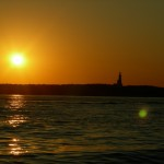 Sunset behind the Montauk Lighthouse Long Island