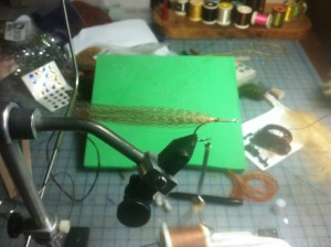 Fly Tying Step 3 - Fold back super hair