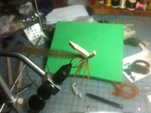 Fly Tying Step 9 - add foam, tie in front
