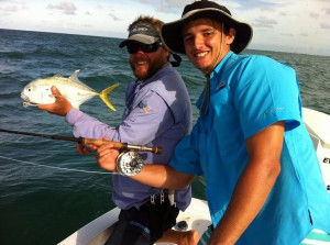 fly fishing, jacks, port aransas, texas, gulf, mexico, guide