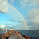 double rainbow, port aransas, texas, gulf, coast, saltwater, fly fishing