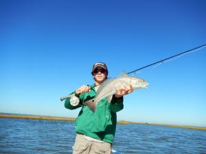 redfish, fly fishing, port aransas, guide, texas, coast