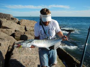 king mackerel, fly fishing, texas, coast, jetty, port aransas, corpus christi