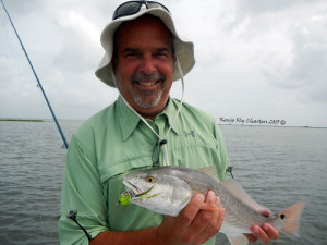 Tom first Redfish on the fly