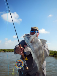 black drum, gasper goo, texas, fly fishing, guide, port aransas