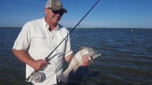 black drum fly fishing Texas coadt Port Aransas rockport corpus christi