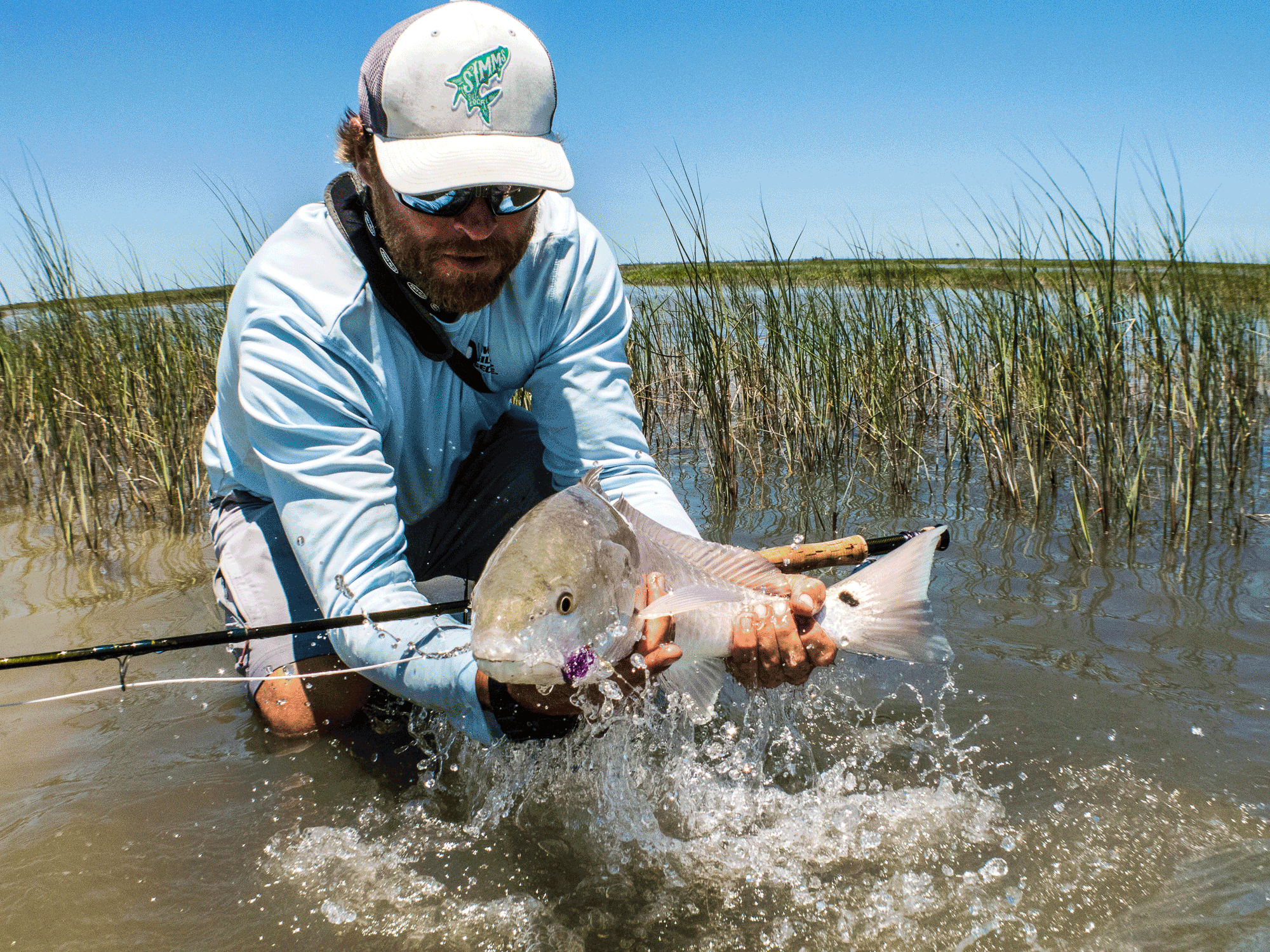 Kenjo fly fishing charters guided saltwater flats fly for Trout fishing in texas