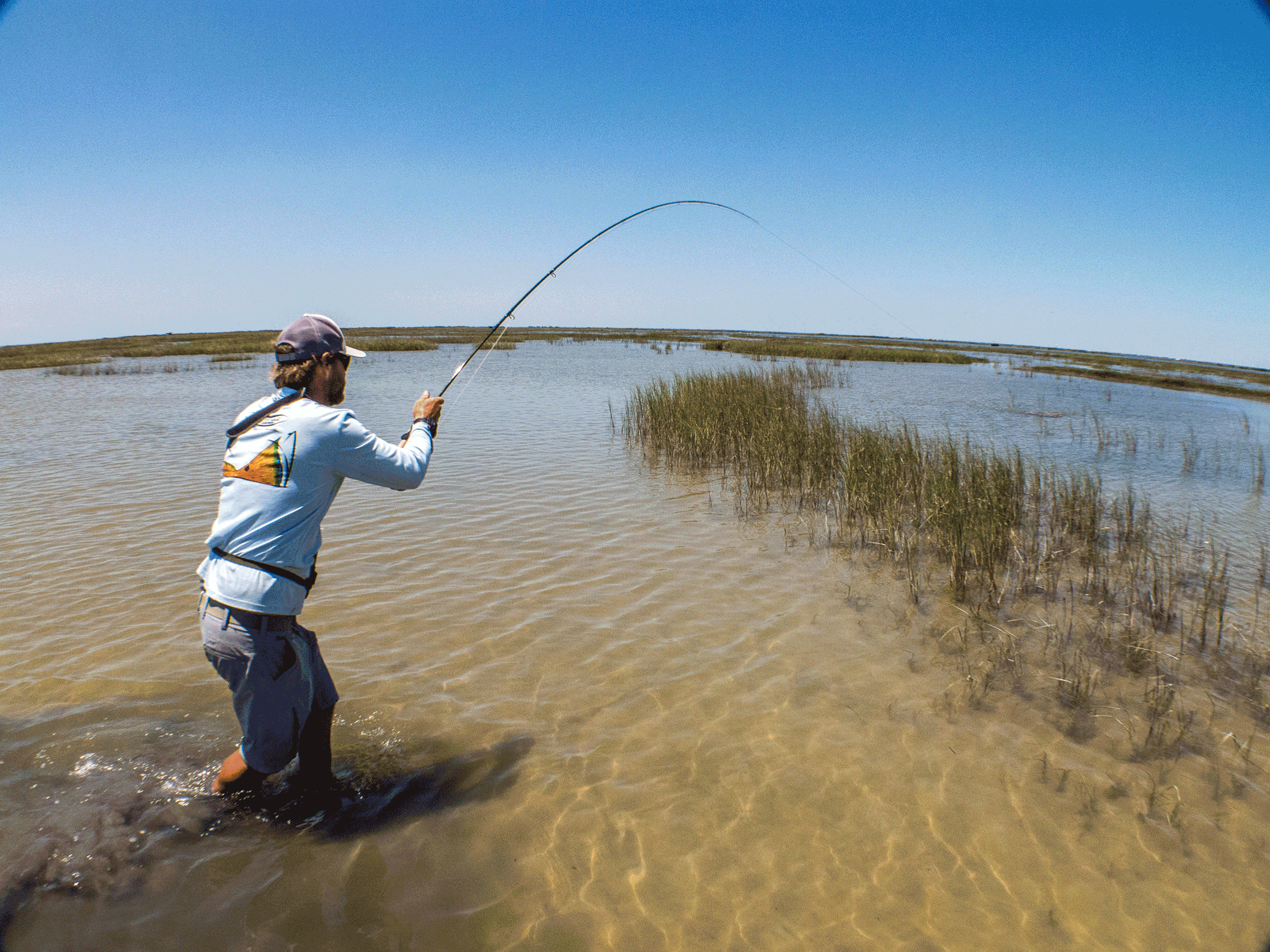 Texas coast saltwater fly fishing school kenjo fly for Trout fishing in texas