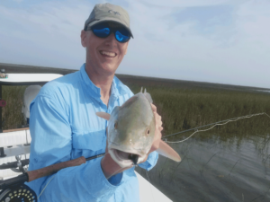 redfish, drum, fly fishing, port aransas, texas, coast, guide, saltwater, charter, airflo, sims, hatch, beavertail, marsh, spartina, grass, sunrise, mullet, crab, shrimp, fly only, catch and release